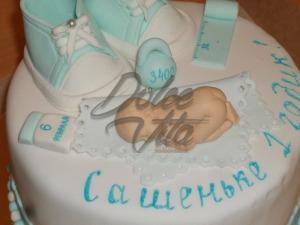 Мастичный торт для малыша